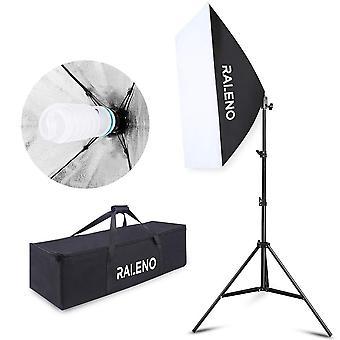 Softbox photography lighting kit, 800w studio light 20″×28″e27 socket 5500k continuous lighting
