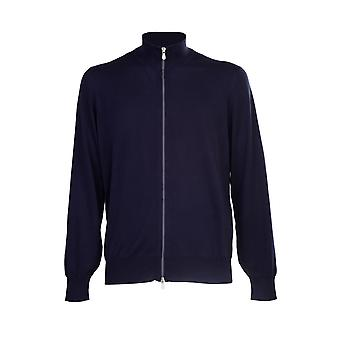 Brunello Cucinelli M2900106cw425 Hombres's Blue Cotton Cardigan