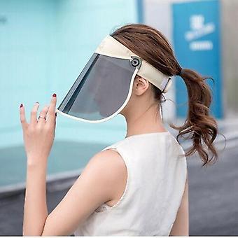 Full Face Head Pvc Shield Cover Solárne reflexné uv-protectant klobúk čiapky