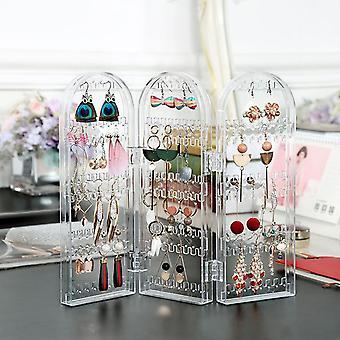 Składane kolczyki kolczyki naszyjnik biżuteria wyświetlacz stojak uchwyt przechowywania box