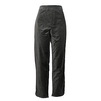 Isaac Mizrahi Live! Women's Plus Pants Velvet Ankle Length Gray