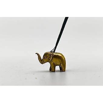Mini Elefant Statue/Røkelse Holder - Bronse