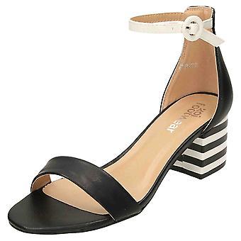 Koi Footwear Open Toe Ankle Strap Shoes Block Heel Sandals
