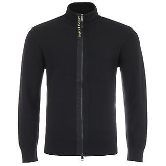 Armani Exchange Zip Through Sweater - Black