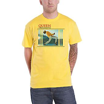 Queen T Shirt I want to Break Free Band Logo new Official Yellow
