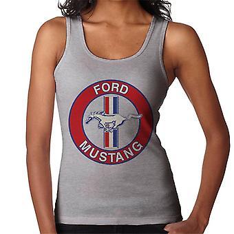 Ford Mustang Skivlogotyp Dam's Väst
