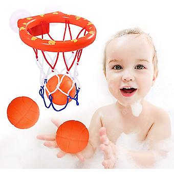 DZK Baby Bath Toys, Bath Basketball Hoop and Balls for Boys and Girls, Toddler Kid Bath Toys for 1 2