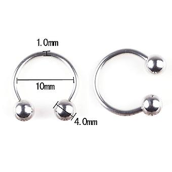 Surgical Steel Spike Horseshoes, Circular Eyebrow Labret Lip Ear Cartilage,