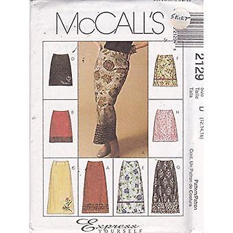 McCalls Naaipatroon 2129 Mist Rok Twee Lengtes Maat D 12-14-16