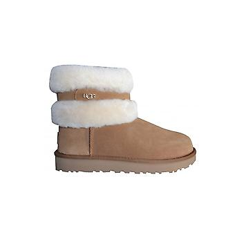 UGG Footwear UGG Women-apos;s Fluff Mini Belted Chestnut Boots