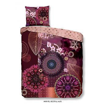 بياضات السرير ألونا 220 × 140 سم القطن / الساتان الوردي 2 قطعة