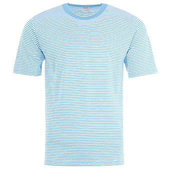 Armor Lux Heritage Stripe T-Shirt - White & Blue