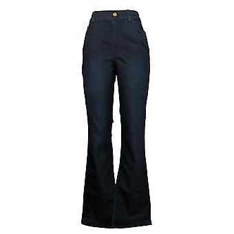 IMAN Global Chic Women's Jeans Illusion Denim Bootcut Blue 734928406