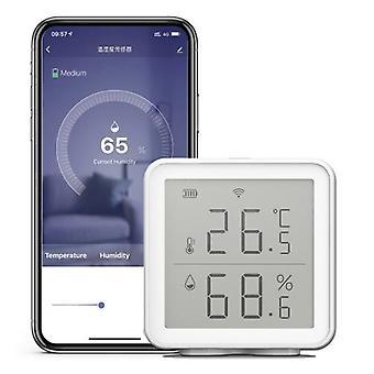 WiFi Smart Temperatur Feuchtigkeitssensor kompatibel mit Alexa 230ft Super Long Range Wireless Digital Hygrometer