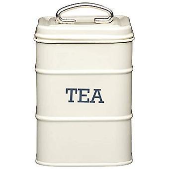 FengChun Aufbewahrungsdose fr Tee, Edelstahl, aus der Living-Nostalgia-Produktreihe, cremefarben