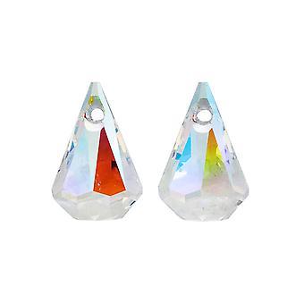 Swarovski Crystal, #6022 Xirius Raindrop Pendants 14mm, 2 Pieces, Crystal AB