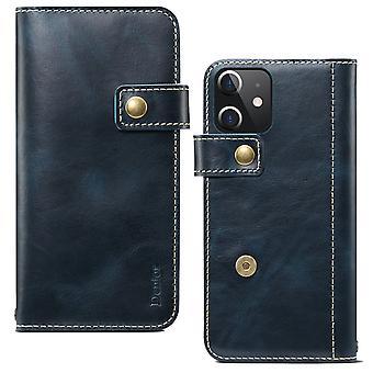 חריץ כרטיס ארנק עור מקורי עבור iphone11promax 6.5 pc1094 כחול