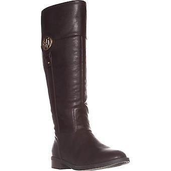 Tommy Hilfiger kvinner Ilia2 Leather Almond toe kne høy ridning støvler