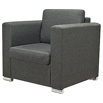 vidaXL Fotel Ciemnoszary materiał