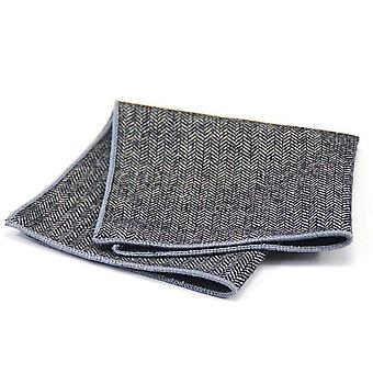 Harmaa kalan ruoto paksu Tweed Look Villa tasku neliö