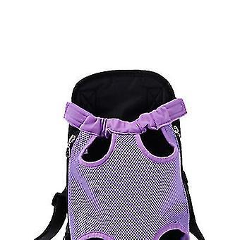 M 30 * 20cm fialová vonkajšia prenosná taška pre domáce zvieratá, priedušný pletivový batoh pre mačky a psy az7827