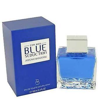 Blå förförelse av Antonio Banderas Eau de Toilette Spray 3,4 oz (män) V728-457404
