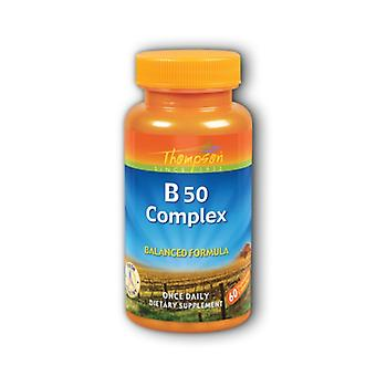 Thompson Vitamin B Complex, 50 mg 60 Caps