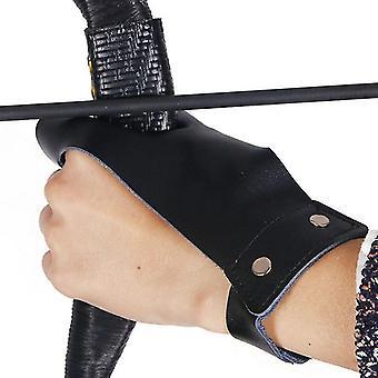 nieuwe zwarte een links boogschieten beschermer handschoen en vinger bewakers sm2182