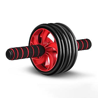 Red d16x31cm three-wheeled abdominal wheel home abdominal exerciser abdominal fast training device homi3987