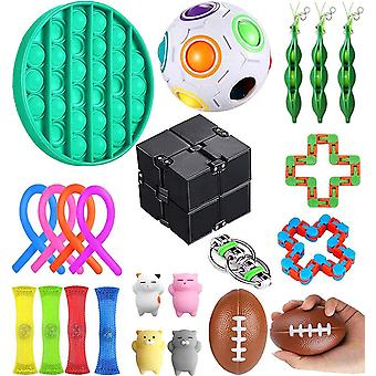 23 Pack Sensor Fidget Toy Set, Stress Relief And Anti-anxiety Toys For Kids Adults Special Needs For Adhd Autism Stress Anxiety