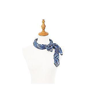 35 Silk Feeling 90 cm Fyrkantig hårhals sovande halsduk för kvinnor (BLÅ)
