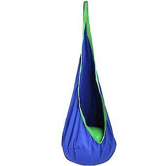Lasten keinutuoli Puuvillainen riippumattotuoli, kestävä ilmatyyny, lasten keinuistuin (violetti)