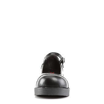 Demonia Women's Zapatos CRUX-07 Blk Cuero Vegano