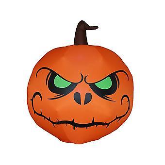 1,2 M Halloween Dekoration grünes Auge Kürbis Aufblasmodell mit LED