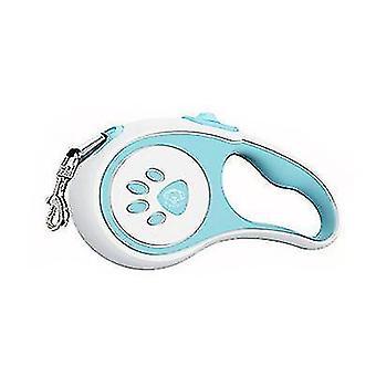 Automatische telescopische tractie riem voor gezelschapshonden, Nylon Dog Traction Rope (Blauw)