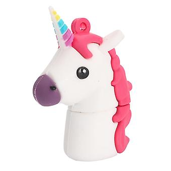 32G Cute Horse USB 2.0 Flash-Laufwerke USB Memory Stick Cartoon Pen Drive Weiß