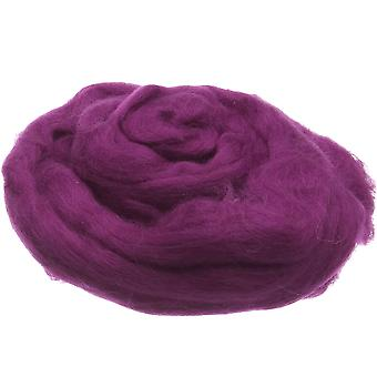 100% ren ny ull for nål tonering, 50g - lilla