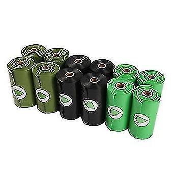 10pcs Biologisk nedbrydelige Pet Garbage Bag Miljøbeskyttelse Biologisk nedbrydelige Hund Agterstavn Taske (Sort)