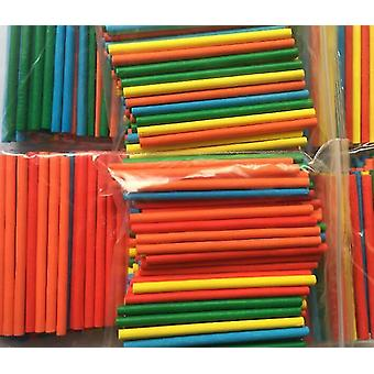 Colorful Bamboo Counting Sticks For Mathematics Teaching Aid