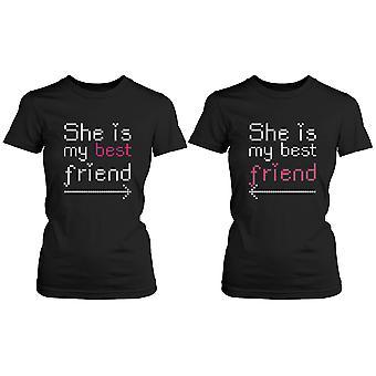BFF passende Shirts - sie ist meine beste Freundin mit Pfeilen - Geschenk für BFF