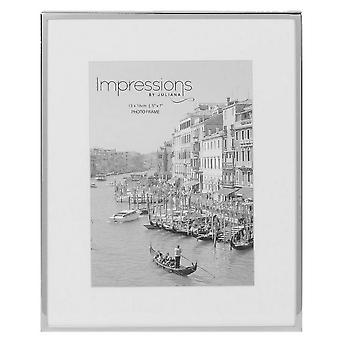 Juliana Impressions Mount Photo Frame 5x7 - Silver/White