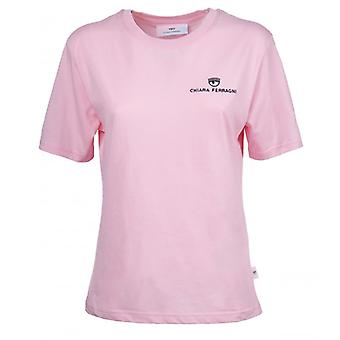 Chiara Ferragni Logo Basic Pink T-shirt