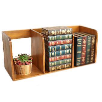 رف عرض خشبي متعدد الوظائف رف التخزين الرف الكتاب