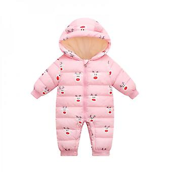 Baby Siamese Down Cotton Jacket Going Out And Down Thickening Romper
