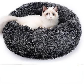 Kerek Macska Ágy Ház Soft Long Plüss Kosár Kisállat Hálózsák Puppy Macska Párna Szőnyeg Hordozható kellékek Legjobb Kisállat Ágy