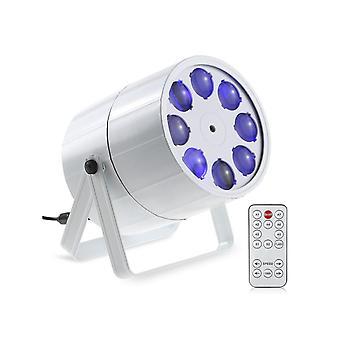 24w 8 canales Mini 8 Leds Rgbw Patrón Etapa Luz 8 Patrones Efecto Lámpara Soporte Dmx512 Activación de sonido Auto Run Ir Control remoto para interiores Ktv P