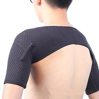 Double épaule Wrap Brace Rotator Brassard Bras Soulagement de la douleur Thérapie chaude pour homme et femmes