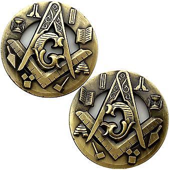 Franc-maçon Percé Bronze Collection de pièces commémoratives 50 Mm Pièces gaufrées Club Médaille commémorative