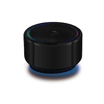 bærbar trådløs bluetooth liten høyttaler mobiltelefon mini metall lite lydkort bil subwoofer-svart