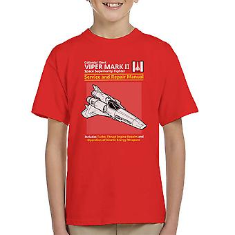 Battlestar Galactica Viper Service en reparatie handleiding Kid's T-Shirt